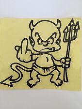 Devil Boy in Black Auto Car Van Truck Vinyl Graphics Removable Decal Sticker