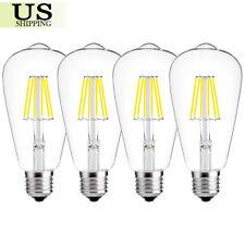 4pc Retro Vintage E26 4W/6W/8W Dimmable LED Filament Edison Light Bulb Lamp 110V
