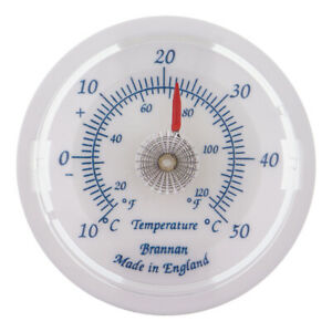 BRANNAN 65MM SLATE BLUE DIAL THERMOMETER C&F IDEAL FOR HOME & GARDEN - 30/408/3