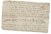 1781 LOUIS XVI notary manuscript document authentic writing and signatures RARE