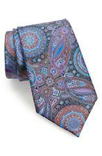 Men's Ermenegildo Zegna # 127 Venticinque Paisley Silk Tie, Size One Size - Blue