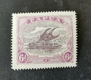 Papua 1916-31  6d purple Mint Hinged AFj1