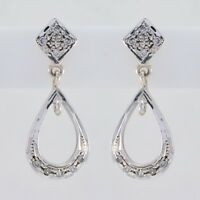 elegant White CZ 925 Sterling Silver White Earring Natural jewelry US gift