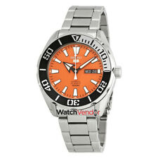 Seiko 5 Sports Automatic Orange Dial Stainless Steel Men's Watch SRPC55