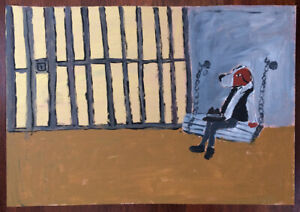 Earl Swanigan Jailhouse Dog painting