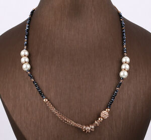 NEW MODEL TOPAZ ROSE GOLD COLORED OVER .925 STERLING SILVER NECKLACE #40274