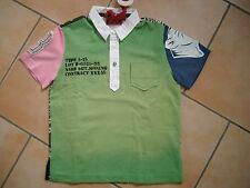 (58) RARE-The Kid Boys Shirt Polohemd + Tasche Druck Totenkopf & Aufnäher gr.128