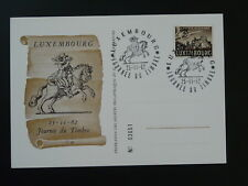 postal history postilion horse commemorative card Luxembourg 1962