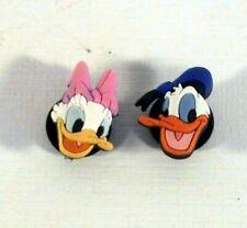Donald Duck and Daisy Duck 2 pc JIBBITZ Shoe Charms for Crocs Clogs Bracelet