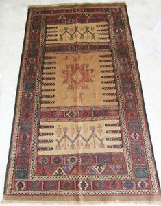 Rug carpet antique oriental tribal Afghan Carpet Turkmen Turkoman Runner Kilim