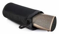 Black Neoprene Case/Pouch w/ Belt Clip for KEF Muo Portable Speaker