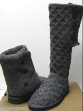 Ugg Lattice Cardy Charcoal Women Boots US6/UK4.5/EU37/JP23