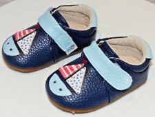 Rose & Chocolat Sailboat Navy, Baby Boys Babyshoes Size 1-2 Free P&P
