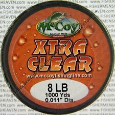McCoy Fishing Line CoPolymer BULK Spool Xtra Clear 8LB Test