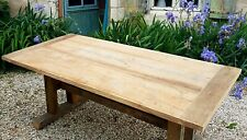 Solid Chestnut/Oak Table Large Dinning/kitchen/patio/garden/ rustic hand made.