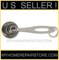 US SELLER! FREE S&H! —STAINLESS STEEL—MEASURING SPOON—4 PIECE SET—BRANDLESS INC.