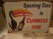 (L@K) Guinness Beer Tucan Bird Tin Pub Sign Bar Game Room New