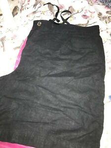 next lack linen shorts knee lengthl