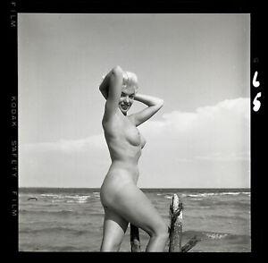 LORI SHEA 1950s Platinum Blonde Nude Bunny Yeager Archive 2 1/4 Camera Negative