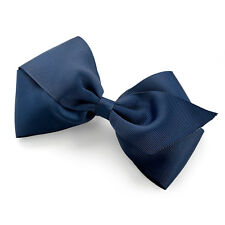 """6"""" Navy Blue Large Bow Hair Alligator Clips Girls Ribbon Bows Kids Accessories"""