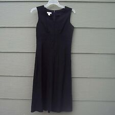 Christopher Banks Long Dress Black Size 6 32B Sleeveless Linen Rayon