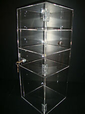 "Acrylic Countertop Display Case 8"" x 8"" x 19"" Locking Security Show Case Safe B"
