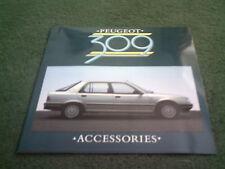 1986 accesorios de Peugeot 309 5 Puertas-Reino Unido 16 página folleto de Color-Perfecto Estado-VZB417