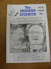 Feb-1990 Chesterfield: The Crooked Spireite  No.19 - Independent Football Magazi