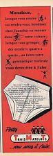 PUBLICITE ADVERTISING 015 1956 TROIS MATELOTS slip pour homme