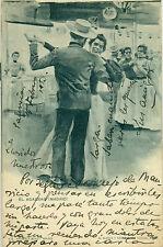 MADRID FRANQUEO MIXTO PELON CADETE CIRCULADA 1903 RARÍSIMA POSTAL PIEZA ÚNICA