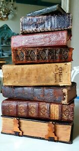 Beautiful collection of 8 old & rare books 17th -19th century