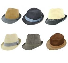 Straw Trilby Hat Choice of Colours 58cm & 60cm