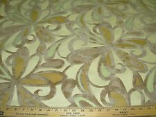 "~4 1/8 YDS~CUT VELVET~""FLOWERS""~MICROFIBRE LINEN UPHOLSTERY FABRIC FOR LESS~"