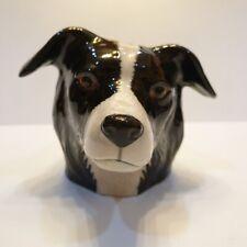Dog3 Head Figurine Vase Pot Ceramic Mini Plant Succulent Planter Flower Decor