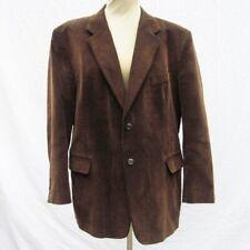 Vtg ALAN FLUSSER CORDUROY Mens Brown Sport Coat 46R Blazer Suit Jacket