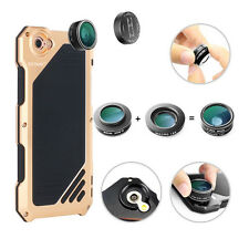 YCCTEAM  For iPhone 7 Aluminum Gorilla Glass camera  Lens Metal Case Cover
