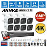 ANNKE Ultra HD 8MP 8CH DVR 4K Security Camera System CCTV IR Night Vision Onvif
