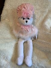 """2000 Rare Chantilly Lane Breast Cancer Teddy Bear Sings """"I Hope You Dance"""" New"""