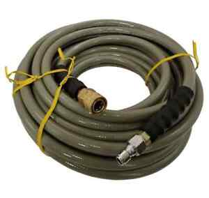 """3/8"""" 50 Feet 4500 PSI Gray Pressure Washer Hose ,Quick Connect Fittings"""