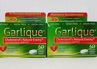 Garlique Cholesterol's Natural Enemy Cardiovascular Health 60 Caplets (2 Pack)