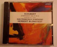 Schubert: Symphony no 9, Overture in C / Herbert Blomstedt (CD, Sep-1993, London