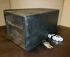 12 Pulgadas Caja grande de dinero en efectivo con 2 Llaves Negro Petty seguro Catedral De Estaño
