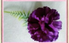 6 MAGENTA/PINK/PURPLE CARNATION/FERN BUTTONHOLES..WEDDING,PARTY,GUEST,OCCASSION