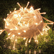32ft 100 LED Christmas Fairy String Party Lights Lamp Xmas Waterproof Warm White
