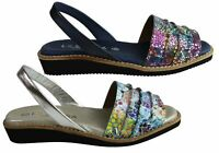 Brand New Le Sansa By Cc Resorts Phoenix Womens Leather Sandals Made In Spain
