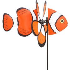 HQ vento Gioco Spin Critter Clownfish pesce con fiore del vento come decorazione giardino