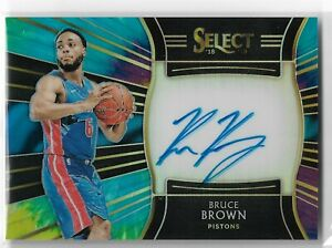 2018-19 Select Basketball Rookie Signatures Tie-Dye Parallel Bruce Brown 02/25