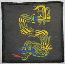 AZTEC QUETZALCOATL SERPENT - Colorful History from Mexico Printed Patch - Sew On