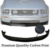 (Carbon Print) For 05-09 Ford Mustang V8 GT 4.6L PU Front Bumper Lip Spoiler