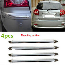 4XSilver Chrome Car Bumper Corner Guard Protector Cover Strip Moulding Universal